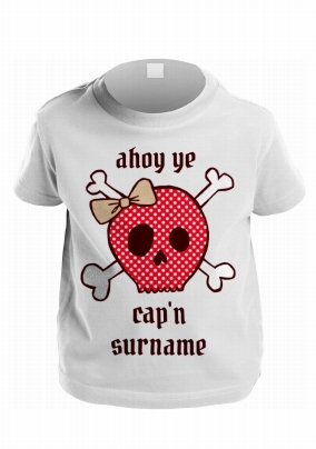 444d59387e5 personalised kids t-shirt - ahoy red capn