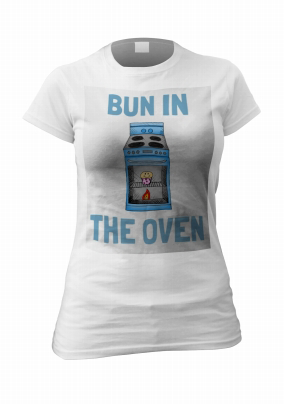 Personalised T-shirt - Baby Boy Bun in the Oven   Funky Pigeon