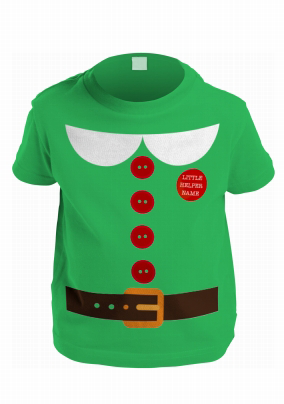 a2b40ad36 Personalised T-shirt - Little Hipster Kids Christmas Elf. NO. preview image  is not found