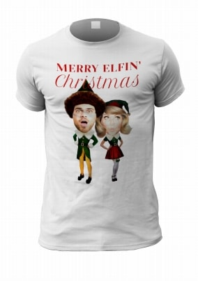 92b9786e901 elf yourself couple male personalised t-shirt
