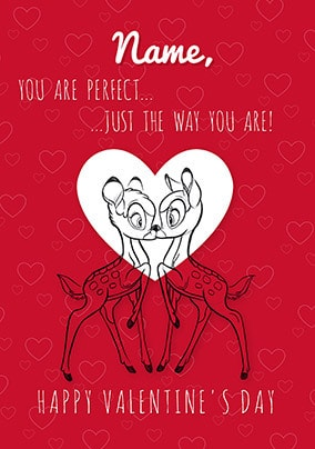 Bambi Personalised Valentines Card