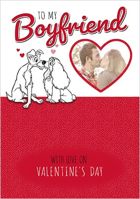 Lady and The Tramp Boyfriend Photo Valentines Card