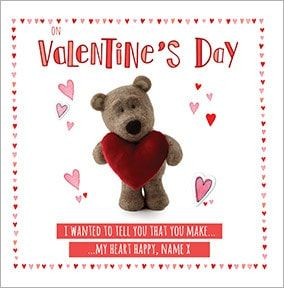 Barley Bear Personalised Valentine's Day Card