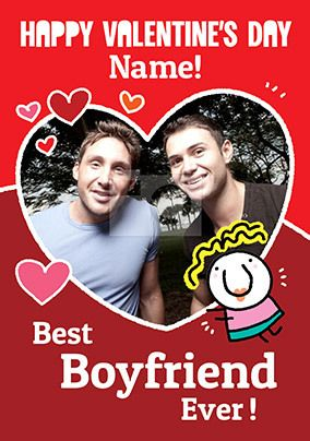 Best Boyfriend Ever Photo Valentine's Card