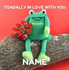 Toad Greeting Card - Toadally in Love