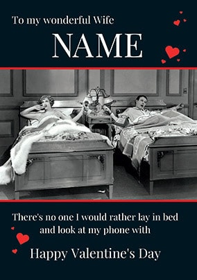 Lay in Bed Personalised Valentine's Day Card