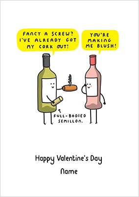 Cork Out Valentine's Day Card