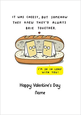 Always Brie Together Valentine's Day Card