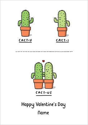 Cact-Us Valentine's Day Card