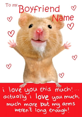 Romantic Hamster Card - I Love You This Much