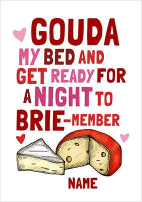 Gouda My Bed Personalised Card