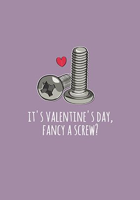 Fancy a Screw Personalised Valentine's Card