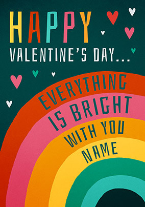 Everything Is Bright Personalised Card