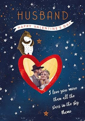 Husband - All The Stars In The Sky Photo Valentine's Card