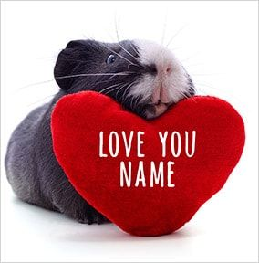 Love You Guinea Pig Personalised Card