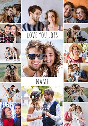 Love You Lots Multi-Photo Card