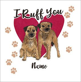 I Ruff You Personalised Valentine's Card
