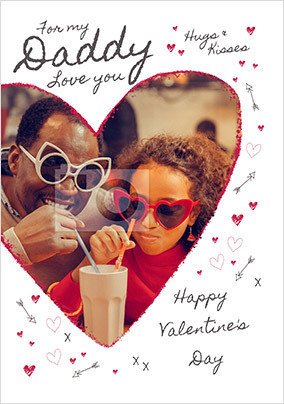 Daddy on Valentine's Day Photo Card