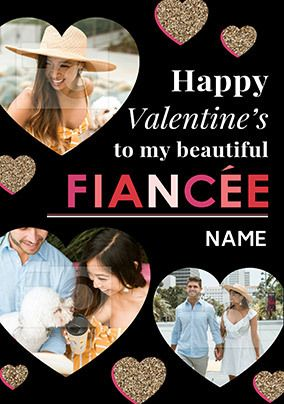 Beautiful Fiancée Valentine's Photo Card