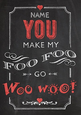 Foo Foo Go Woo Woo Personalised Card