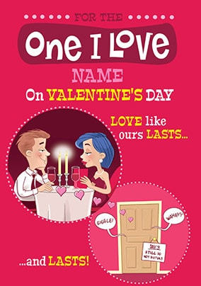 Love Lasts & Lasts Personalised Valentines Card
