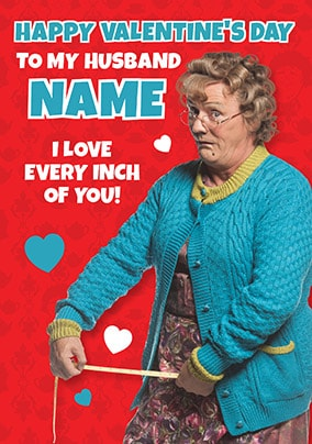 Husband - Mrs Brown's Boys Valentines Card