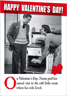 Funny Cooking Valentine's Card - Emotional Rescue