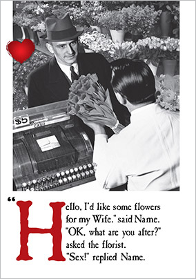 Flowers for Wife Valentine's Card - Emotional Rescue
