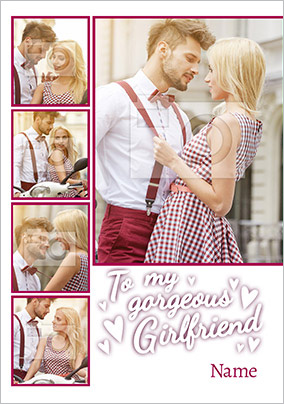 Girlfriend Valentine's Day Multi Photo Upload Card - Essentials