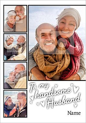Husband Valentine's Day Multi Photo Card - Essentials