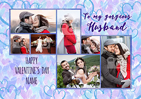 Gorgeous Husband Valentine's Day Multi Photo Upload Card - Essentials