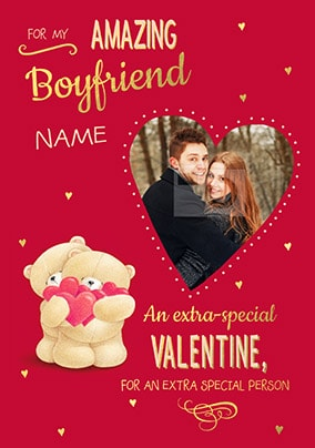 Amazing Boyfriend Valentine's Photo Card - Forever Friends
