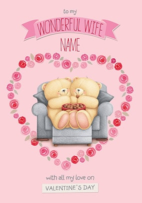 Wife valentines day cards fast delivery funky pigeon wonderful wife personalised valentines card no preview image is not found m4hsunfo