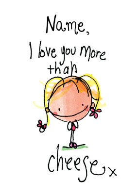 I Love You More Than Cheese Card - Juicy Lucy
