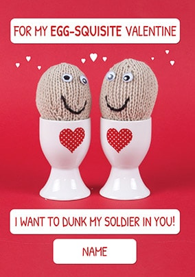 Egg-squisite Valentine Personalised Card