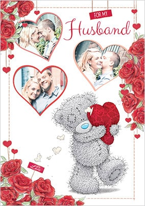 For My Husband Multi Photo Valentine Card