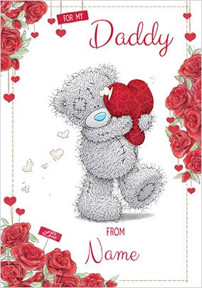 For My Daddy Personalised Valentines Card
