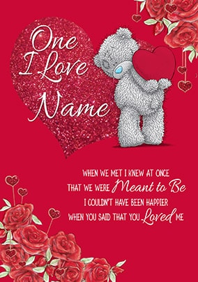 One I Love Personalised Valentine Card
