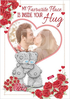 Inside Your Hug Photo Valentines Card