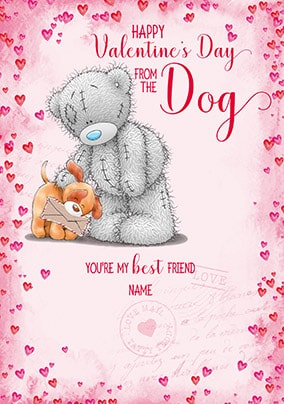Happy Valentine's Day From The Dog Personalised Card