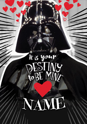 Darth Vader Valentine's Card - It's Your Destiny