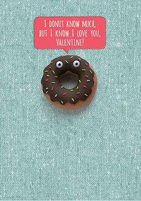 Donut Valentine's Card - Shut Your Cake Hole