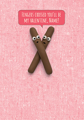 Chocolate Fingers Valentine's Card - Shut Your Cake Hole
