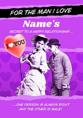 A Happy Relationship Personalised Card