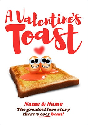 A Valentines Toast Personalised Card