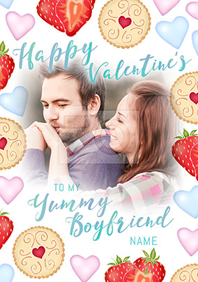 Boyfriend Valentine's Day Photo Upload Card - Sweet Life