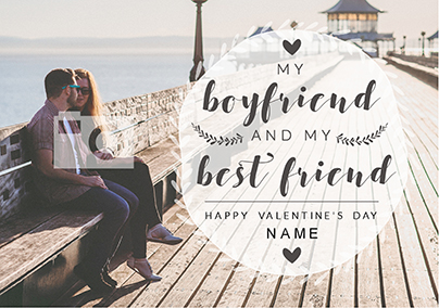 Boyfriend Valentine's Day Photo Upload Card - My Best Friend