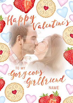 Girlfriend Valentine's Day Photo Upload Card - Sweet Life