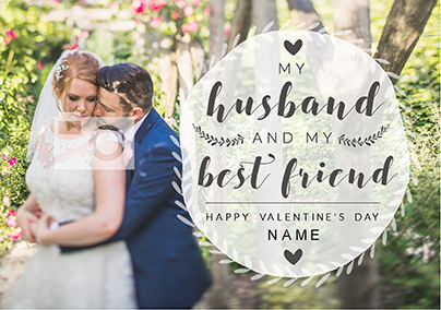 Husband Valentine's Day Photo Upload Card - My Best Friend