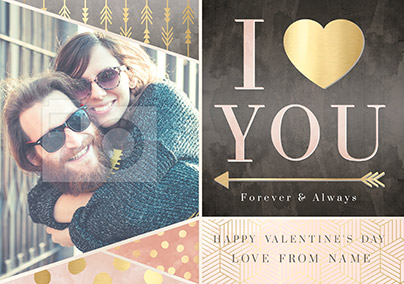 Heart You Valentine's Day Photo Upload Card - All that Shimmers Love You